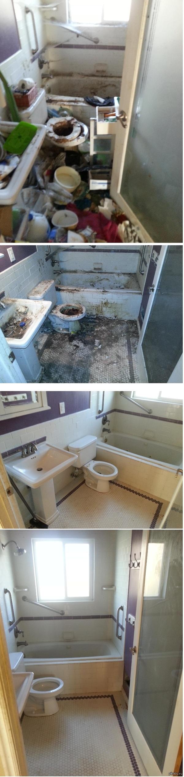 """""""Три стадии чистоты"""" """"... дом пустовал и за это время в нем часто собирались бездомные, выкупили, привели в порядок"""""""