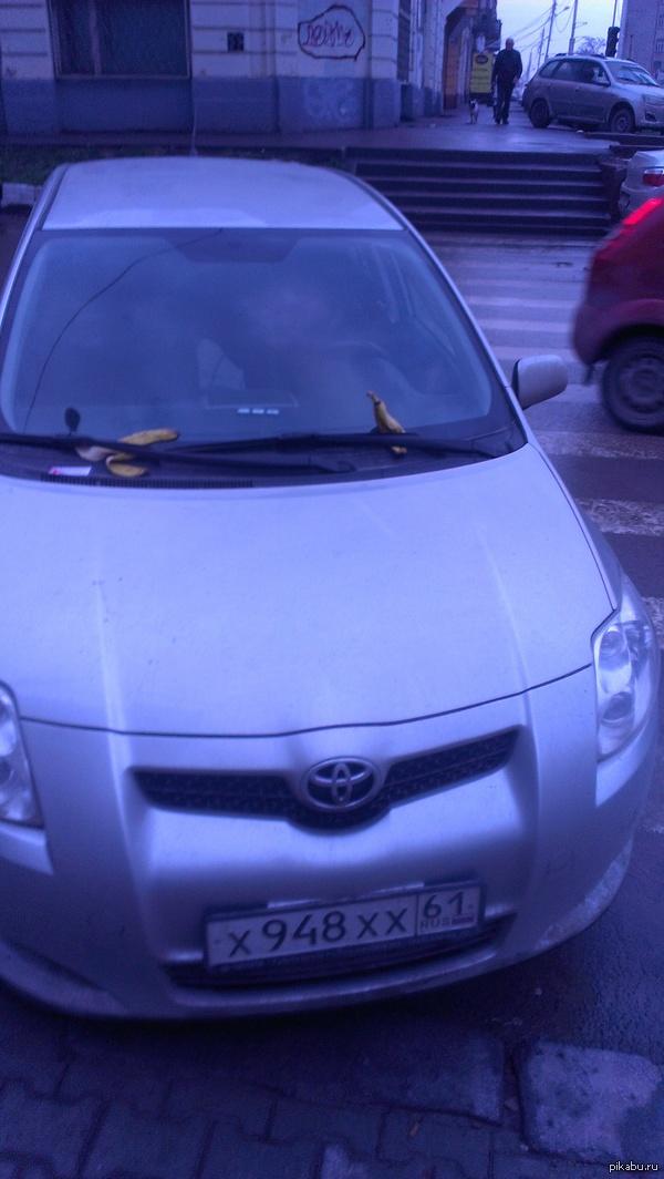 Припарковался на переходе. Вот так в Ростове-на-Дону указывают, что водитель не правильно припарковался!