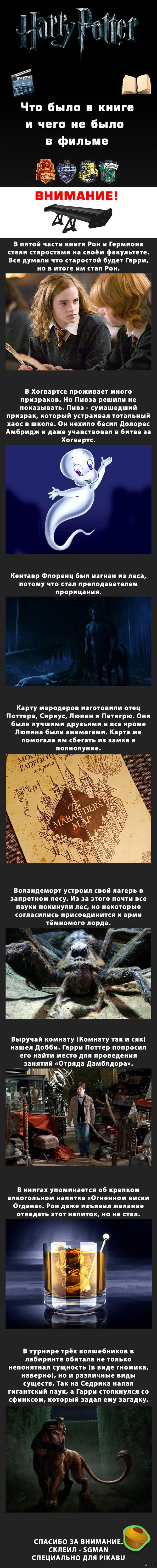 Гарри Поттер. Книга и фильм. Многим понравилась идея, так что я сразу запилил вторую часть.