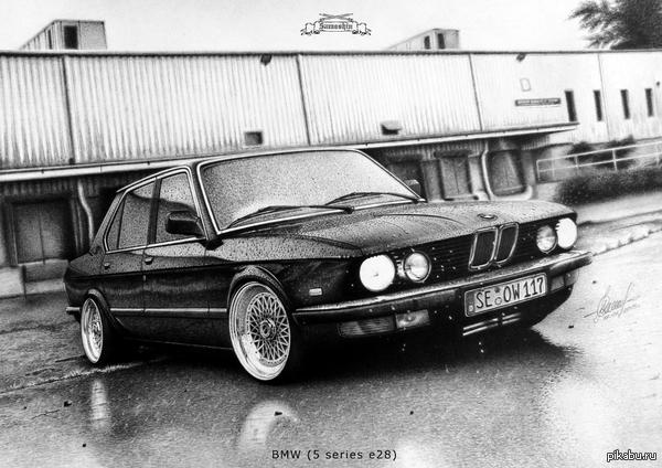 BMW 5 series e28 Приветствую всех!Решил немного отойти от Цефир потому как увидел рисунок мимо которого пройти не смог.