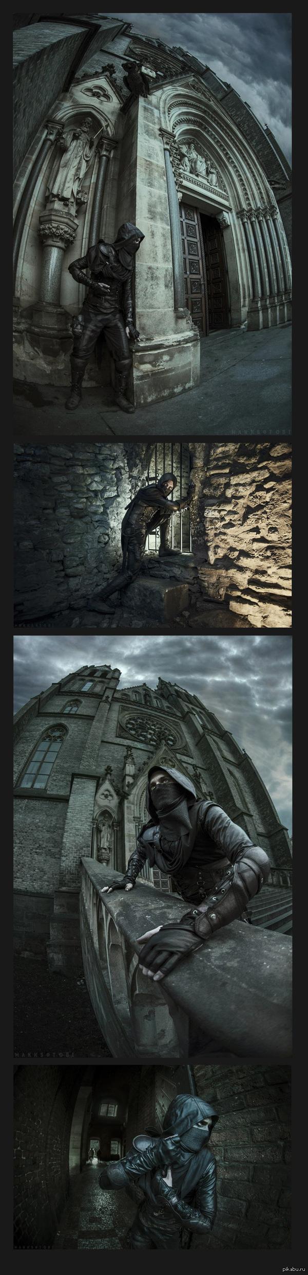 Потрясающий Garrett Очень атмосферный фото-косплей главного героя игры Thief 4. Снимали русские ребята в Чехии.