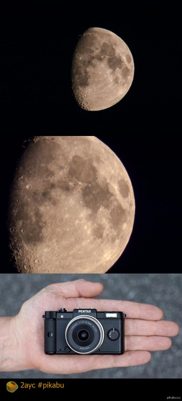 какую как фотографировать луну ночью на зеркалку можно менять