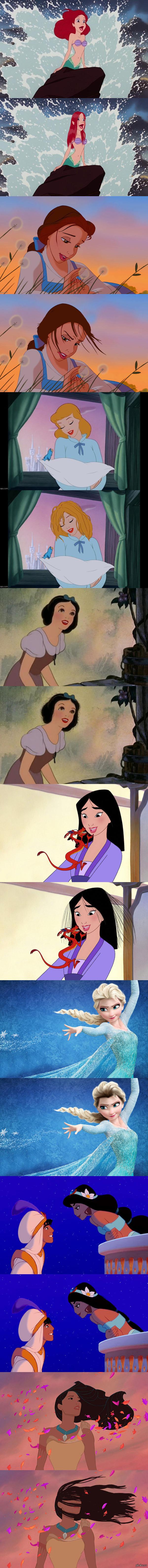 Если бы прически принцесс выглядели реалистично)