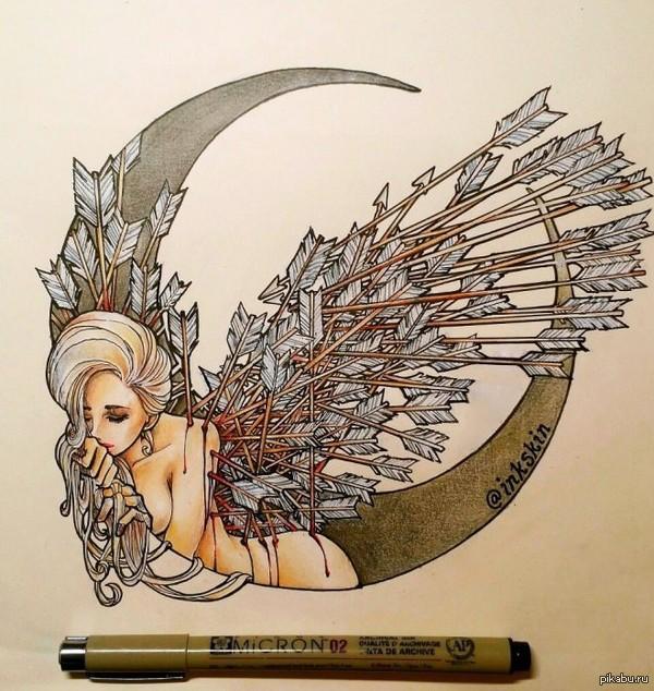 Нарисовала после расставания с любовью всей своей жизни.