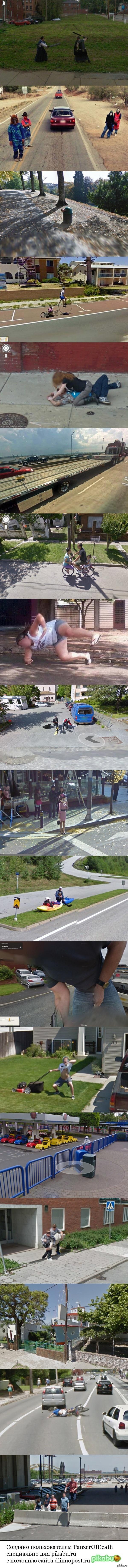 Самые необычные кадры, заснятые камерами Google Street View по всему миру