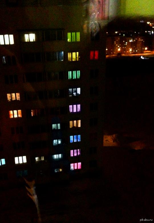 Соседский видеоряд Выглядываю из окна, а там...