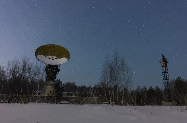 Радиоастрономическая станция в естественной среде обитания