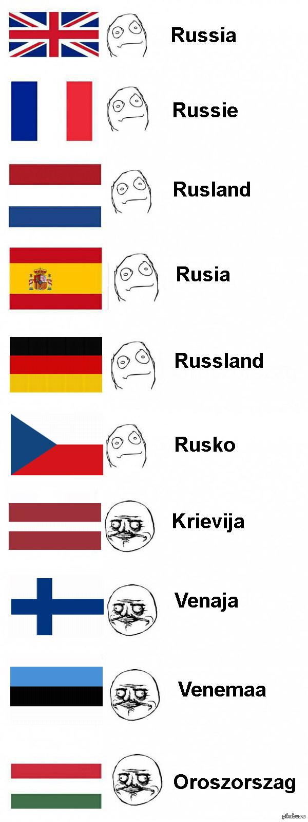 Как звучит РОССИЯ в других странах...