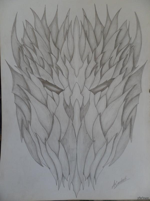 Демон. А2, карандаш.