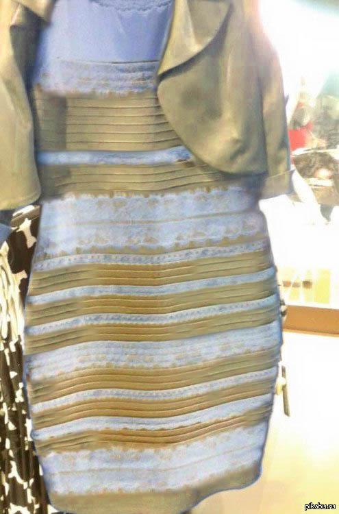 платье бело золотое фото
