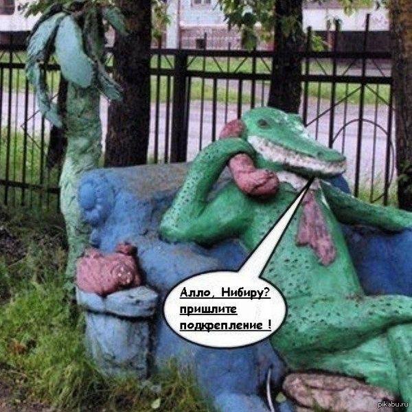 Крокодил у аппарата