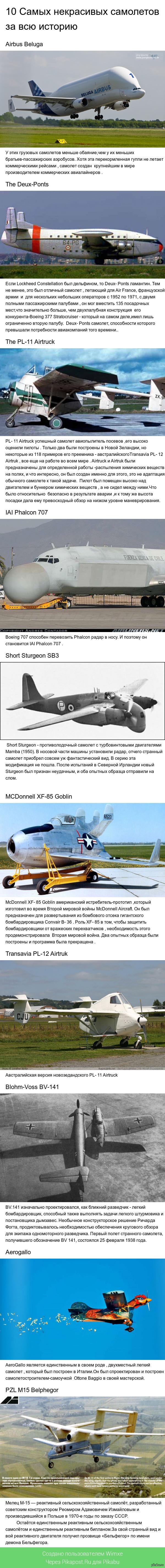10 самых некрасивых самолетов за всю историю