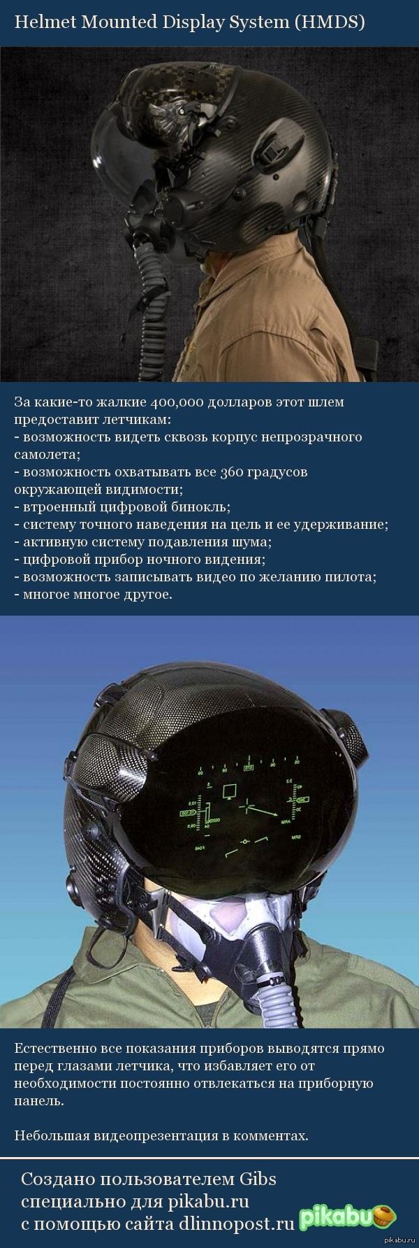 Helmet Mounted Display System Шлем для военных летчиков.