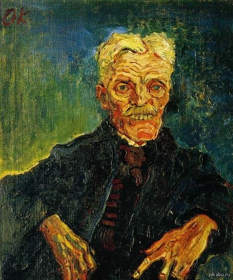 Напомнил одного скрывающего боль человека Oskar Kokoschka - Hirsch as an Old Man (1907)