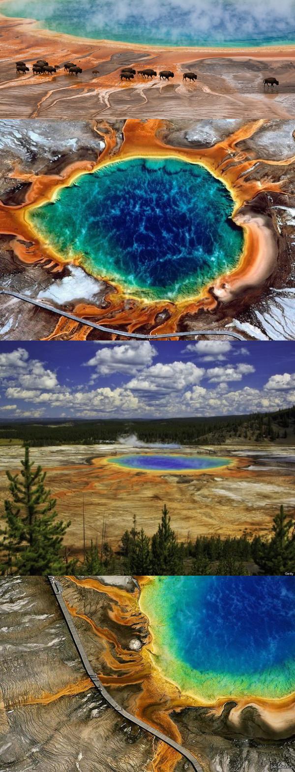 Большой призматический источник в Йеллоустонском национальном парке