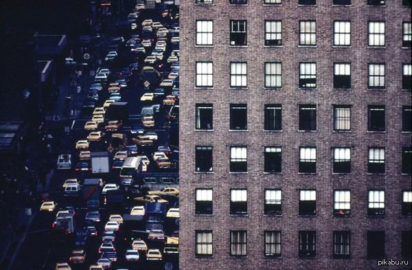 Муравейник Затор на 6-й авеню недалеко от 42-й улицы, апрель 1973 года