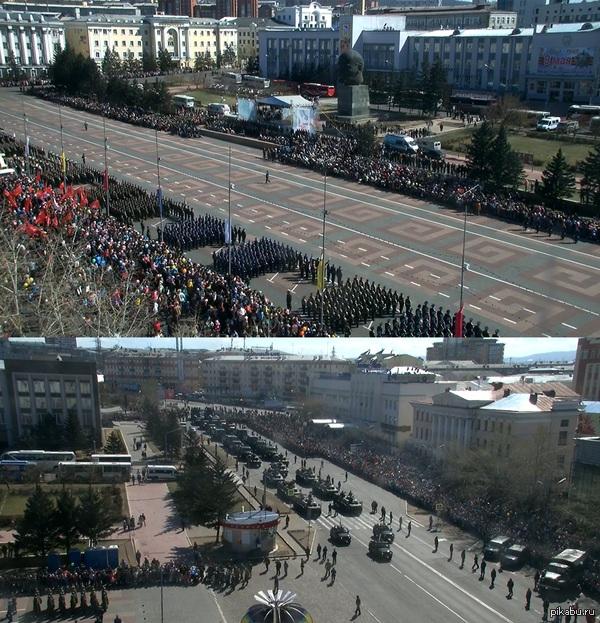 Парад Победы г.Улан-Удэ http://trafjam.ru/#camera-6