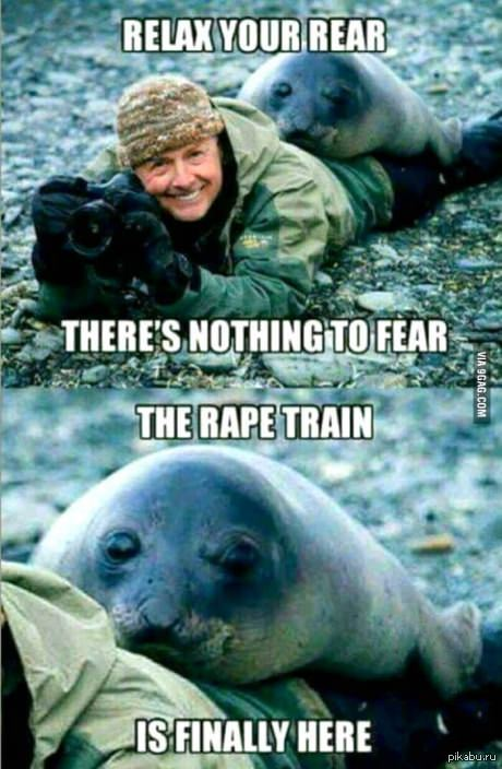 Морской котик Rear — зад, rape — насиловать