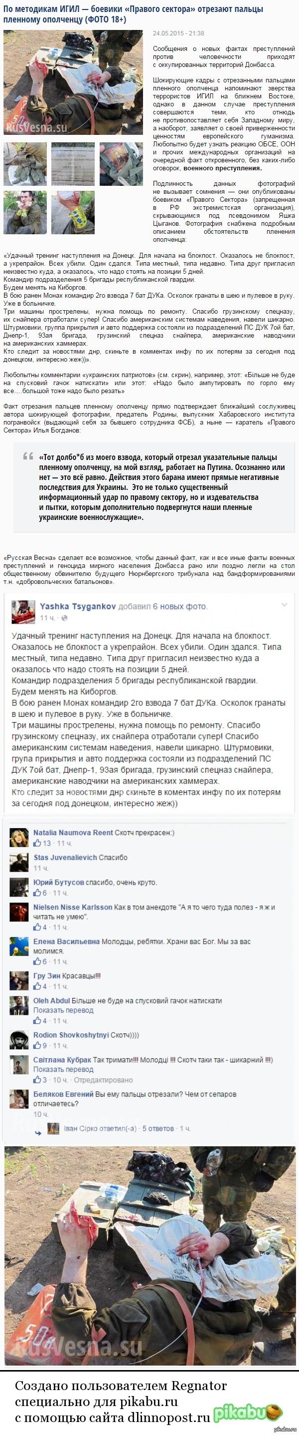 """Правый сектор""... Источник:  http://rusvesna. su/news/1432492601"