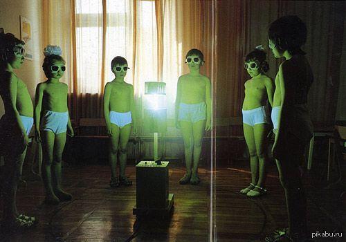 Октябрята вызывают дух Владимира Ильича Ленина. Детский лагерь «Артек», Крым, 1986 год.