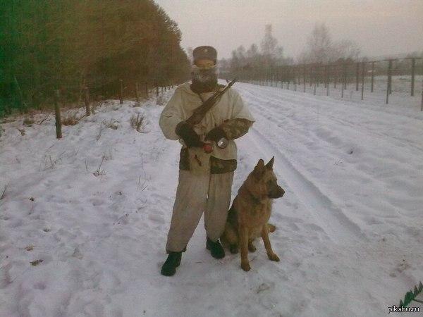 Всех служивых с днем пограничника ! Особенно Н-10 ! *по пограничным суткам уже 28 число (по Минску). На фото - февраль 2012 года, -29.