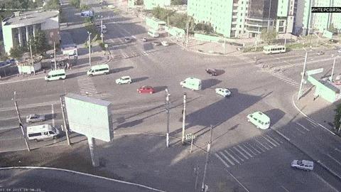 Челябинск Это когда тебя подрезает автомобиль ГАИ