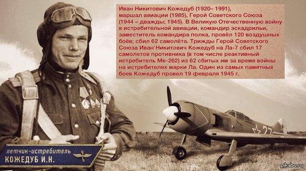 8 июня 1920 года родился советский ас Иван Никитович Кожедуб