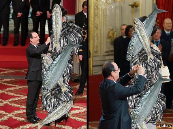 "Президент Франсуа Олланд награждает баскетболистку Груду Сардин. В ответ на <a href=""http://pikabu.ru/story/prezident_fransua_olland_nagrazhdaet_basketbolistku_sandrin_grudu_3426474"">http://pikabu.ru/story/_3426474</a>"