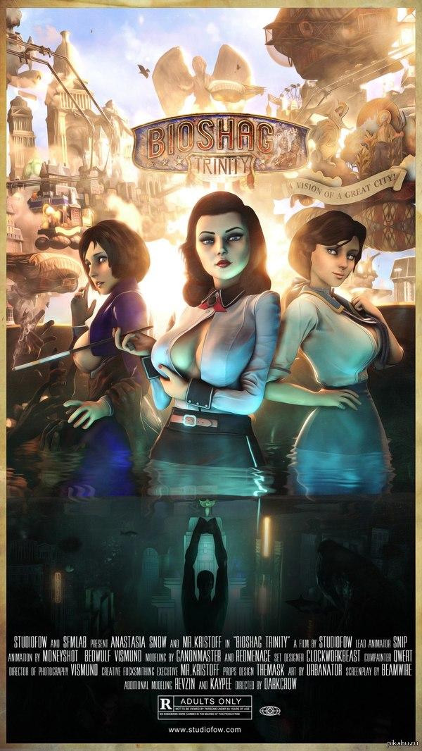 Bioshock: Trinity 4 июля состоится релиз эротического анимационного фильма BioShock: Trinity от StudioFOW о приключениях Элизабет в Коламбии. Строго 18+
