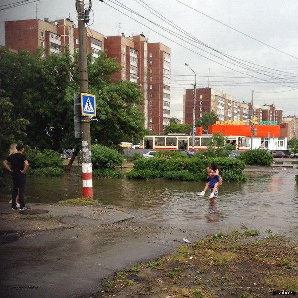 Тропический ливень в Ульяновске и немножко доброты