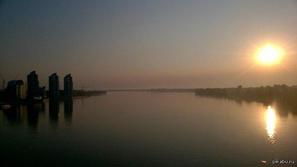 Барнаул, Новый мост, 5 утра Спать не хотелось, решили прогуляться с другом.