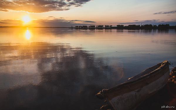 Закат в Рыбинске
