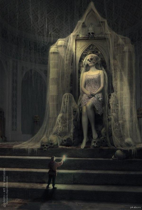 """Служанка Сагры,терпеливо ждущая в Костяных дворцах Арт по книге А.Пехова """"Вьюга теней""""."""