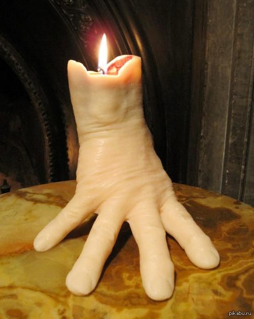 Муж купил вот такую свечу для романтического ужина