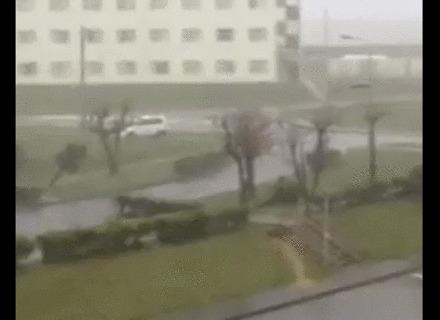 Когда стихия паркует твой автомобиль