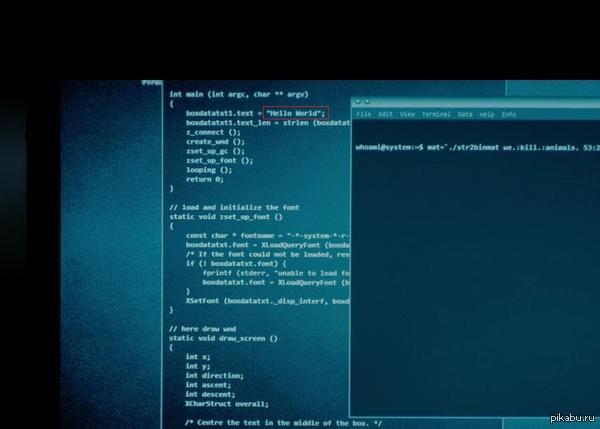 Типичные хакеры Смотрел фильм про хакеров, взламывали защиту местной больницы...