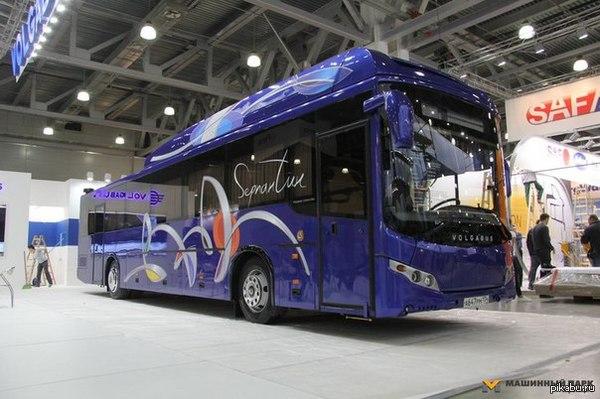 «Volgabus» представил междугородний газомоторный автобус собственной разработки «Volgabus» презентовала 8 сентября на выставке «Комтранс-2015» инновационный междугородный газомоторный автобус нового поколения «Volgabus-528512» — «Серпантин»