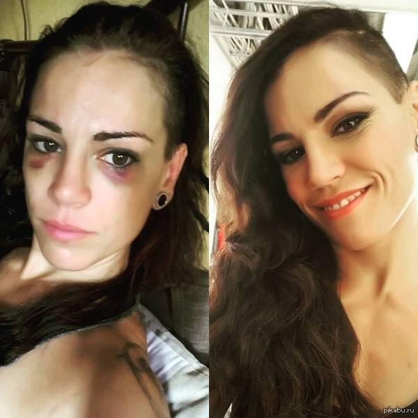 Фингалы красоте  не помеха Финская боксерша  Эва Валстрем до и после макияжа