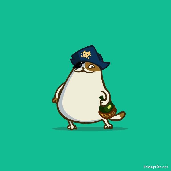 Пятничный Котик №21 Йо-хо-хо! С международным Днём пирата!
