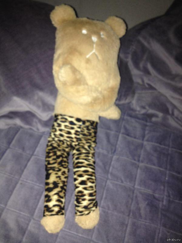 """Модный медведь Цитата: """"У меня подозрение что медведю не нравятся штаны, которые я ему сшила.""""(Скинула подруга и с ее разрешения ставлю """"Моё"""")"""