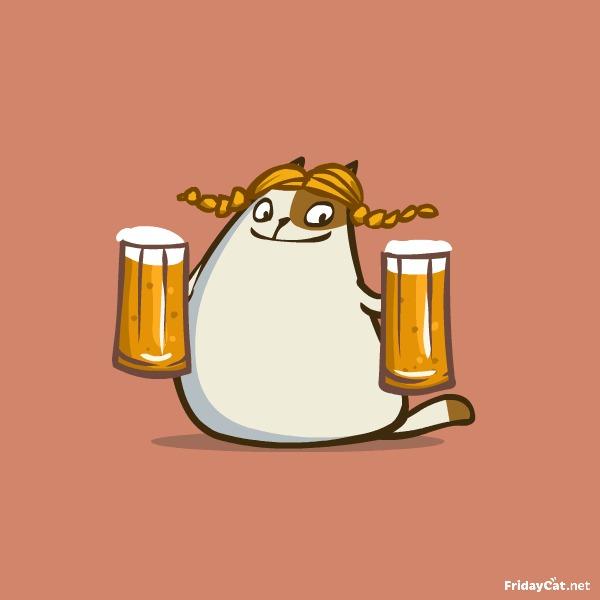 Пятничный Котик №22! Пиво и котики — что может быть лучше?