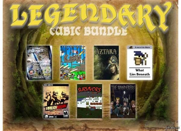 Cubic Bundle - Российский бандл. 7 игр меньше чем за $1 из них 6 - для steam, в четырех есть коллекционные карточки.  все за 59 рублей.  ttps://cubicbundle.com/ru/legendary-cubic-bundle