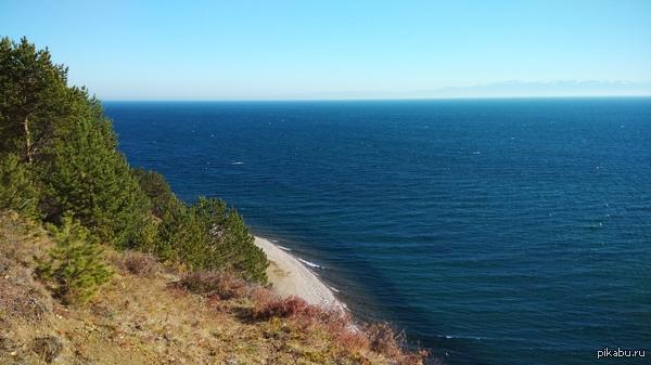 Байкал, Листвянка. Горы - другой берег, в 40км от места фото  Фотал на xiaomi mi3