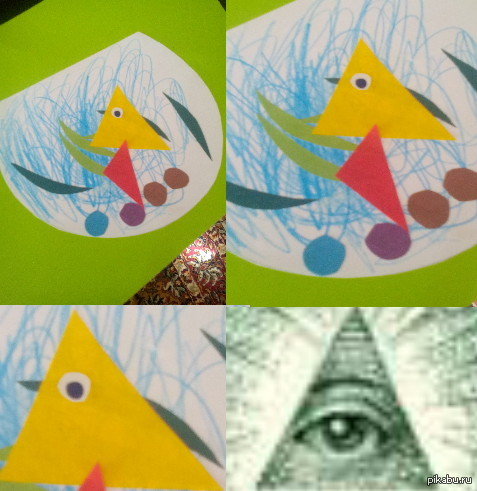 Сестра сделала поделку в детском садике
