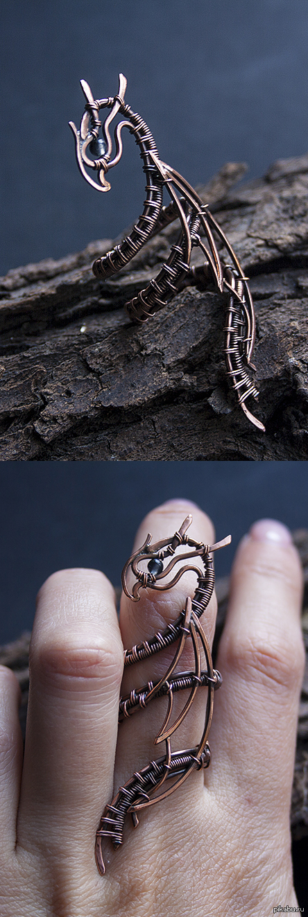 """""""Дракон"""". Кольцо. кольцо. наконец снова вернулась в работу, буду рада вашим отзывам : )"""