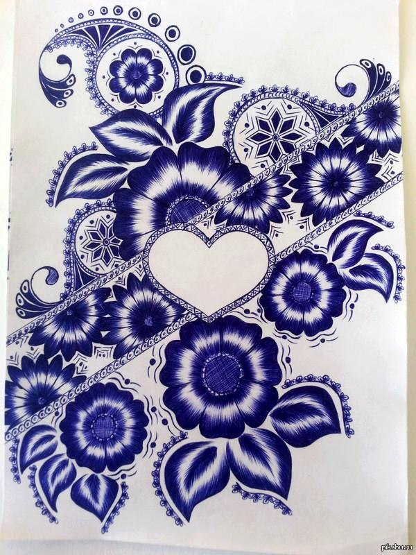 фото рисунков ручкой