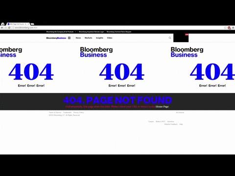 Ошибка 404 (страница не найдена) что делать?  Совет Bloomberg