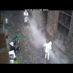 Очистка стены 20 летнего дома