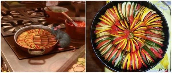 То, гениальное блюдо из мультфильма Рататуй, приготовленное в жизни.