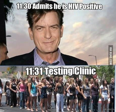 Очередь в клинику через минуту после того, как Чарли Шин признался, что заражен ВИЧ